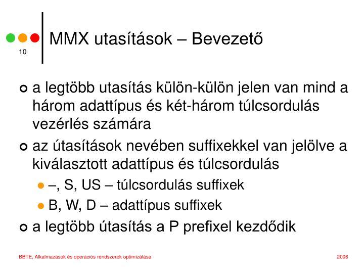 MMX utasítások – Bevezető
