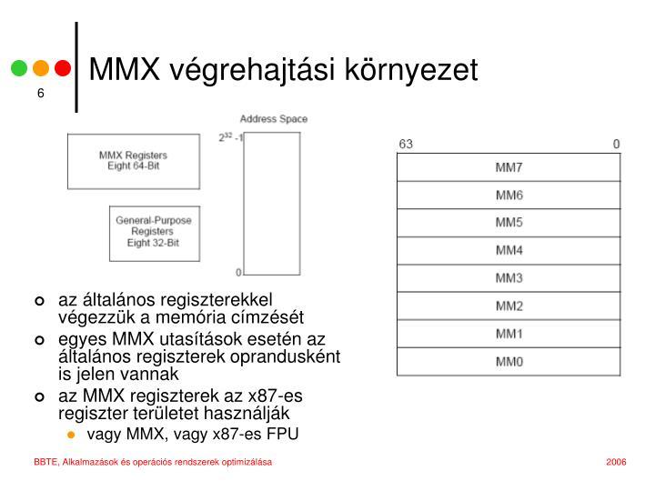 MMX végrehajtási környezet