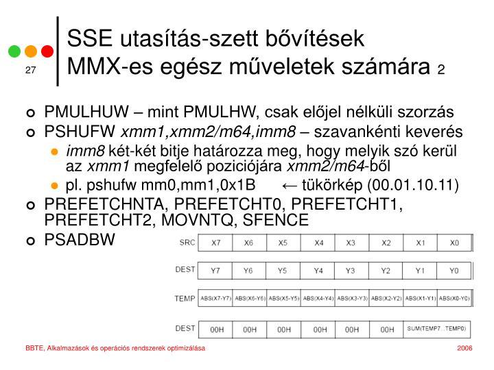 SSE utasítás-szett bővítések
