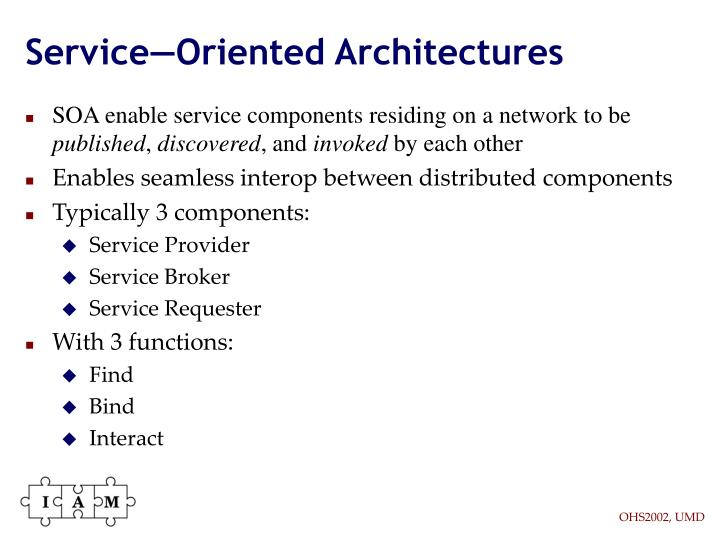 Service—Oriented Architectures