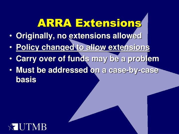 ARRA Extensions