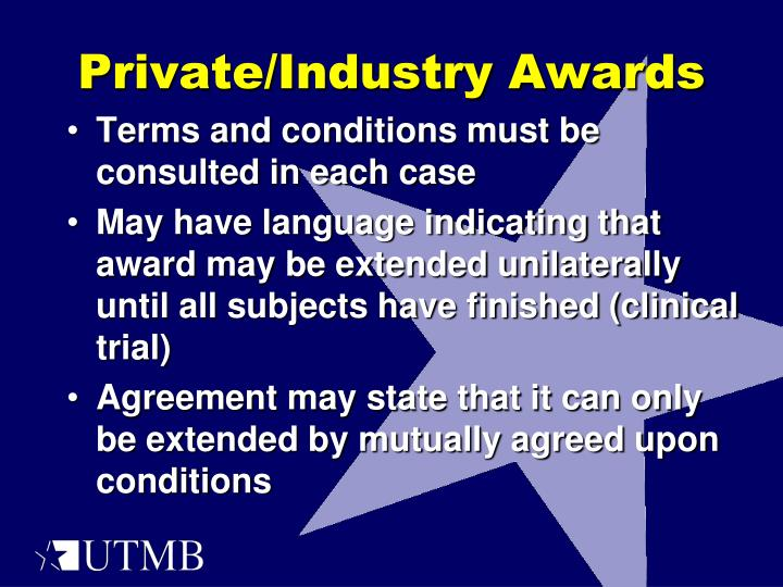 Private/Industry Awards