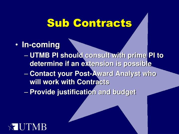 Sub Contracts