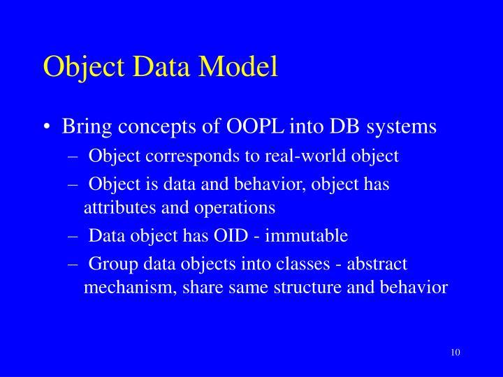 Object Data Model