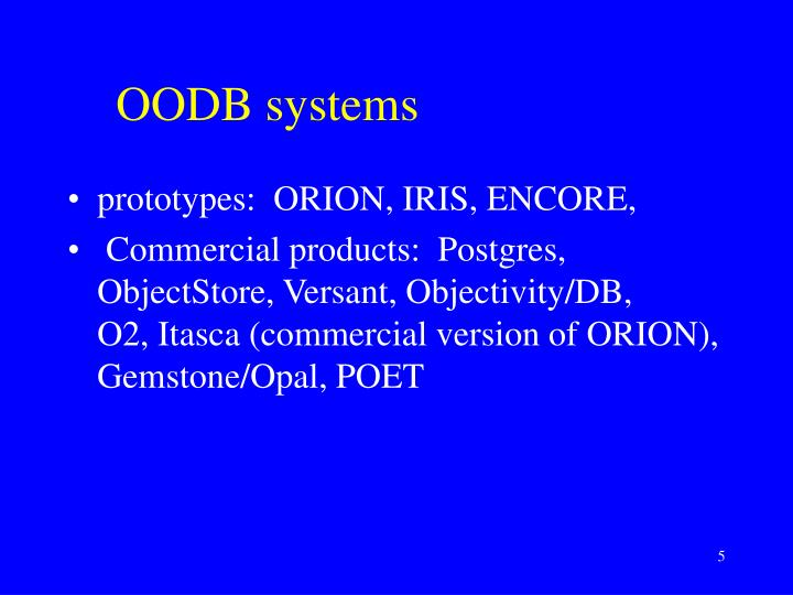 OODB systems