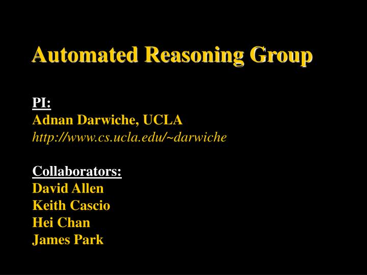 Automated reasoning group