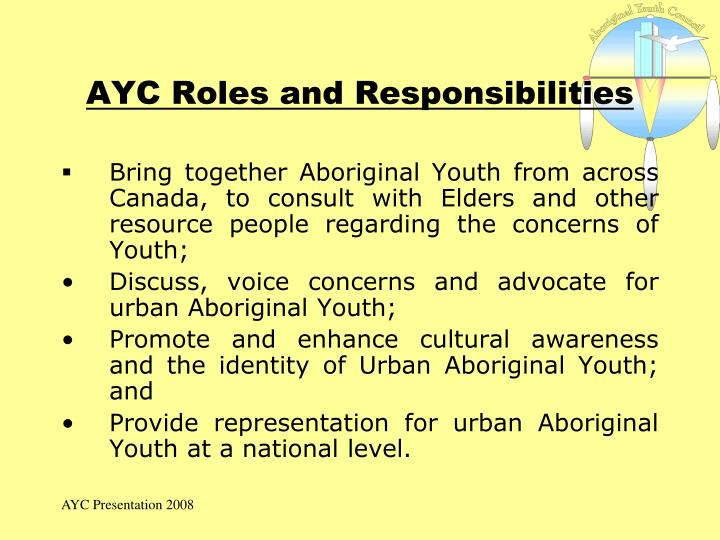 AYC Roles and Responsibilities