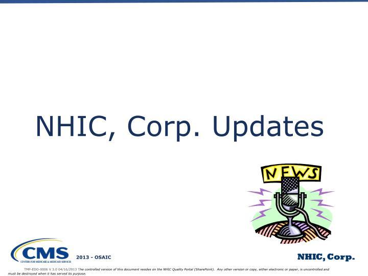 NHIC, Corp. Updates