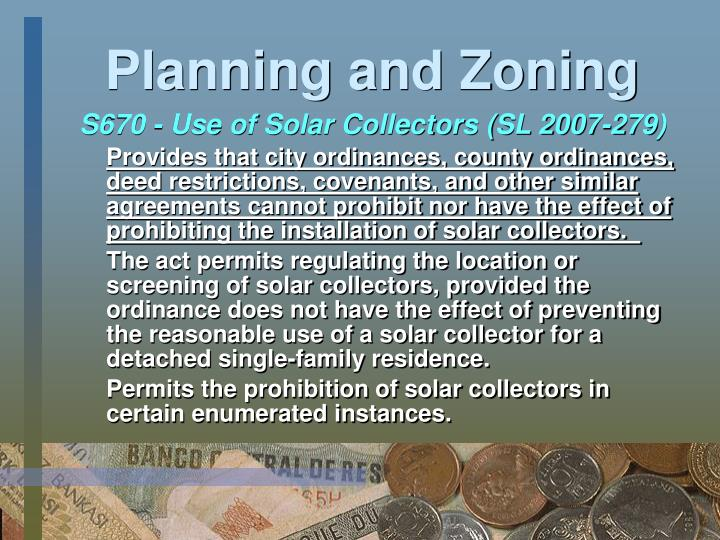 Planning and Zoning