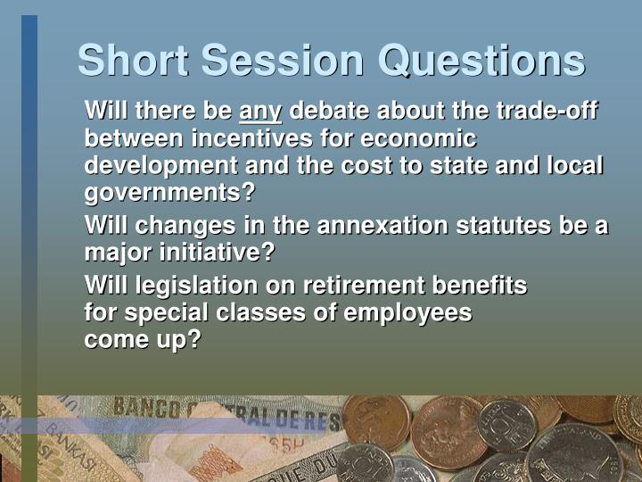 Short Session Questions