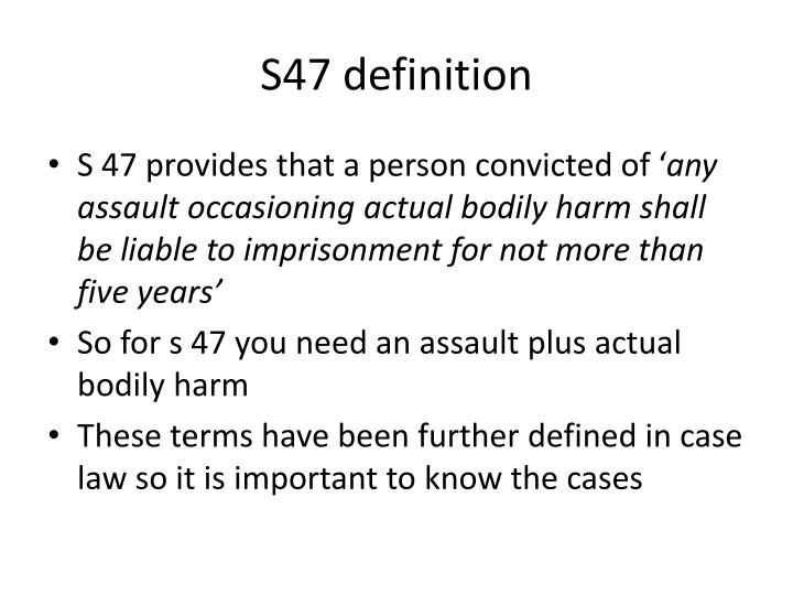 S47 definition
