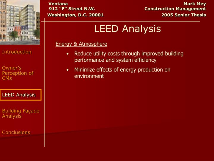 LEED Analysis