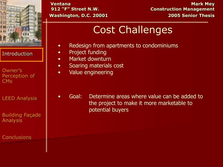Cost Challenges