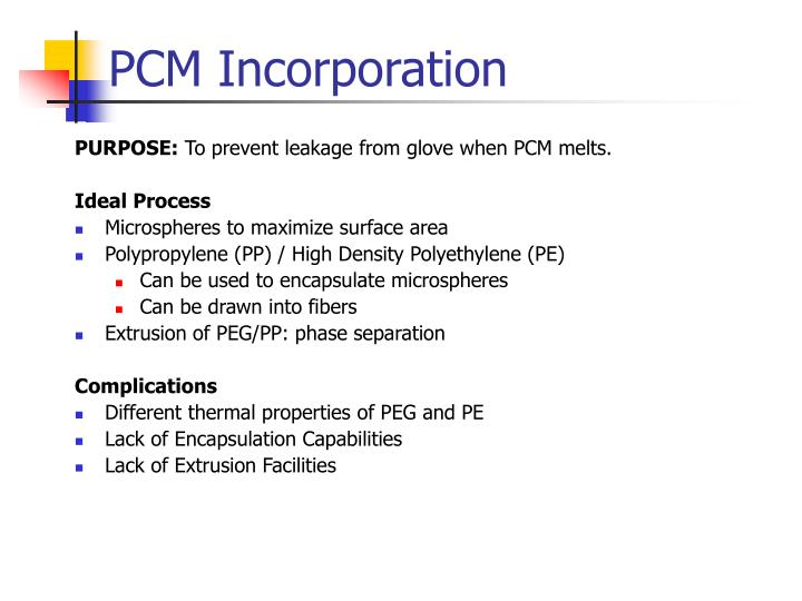 PCM Incorporation
