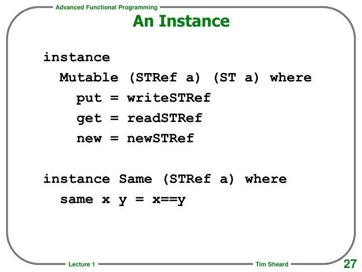 An Instance