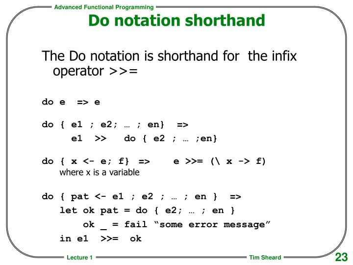 Do notation shorthand