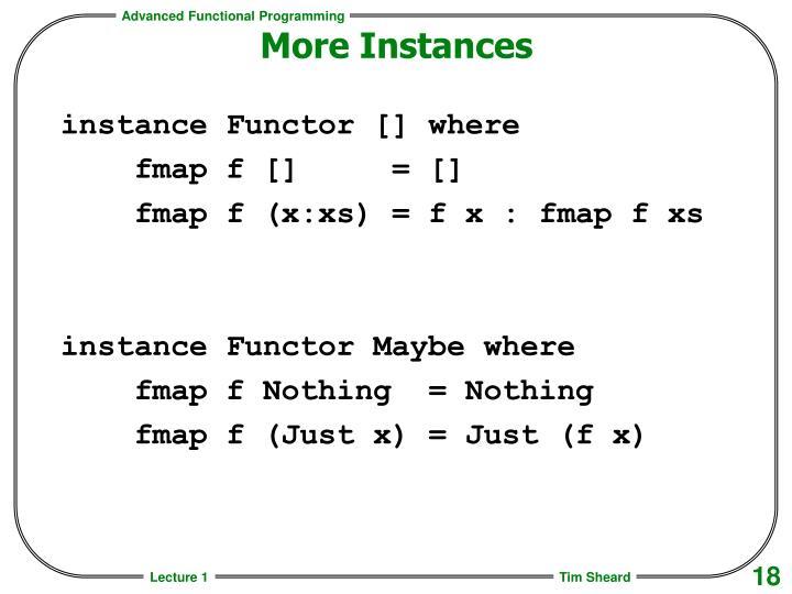 More Instances