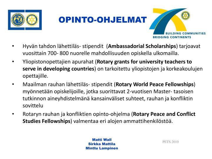 OPINTO-OHJELMAT