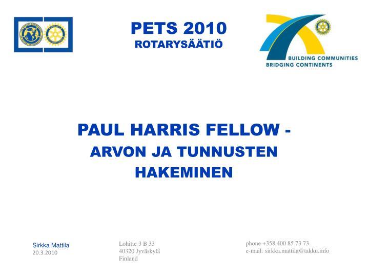 PETS 2010