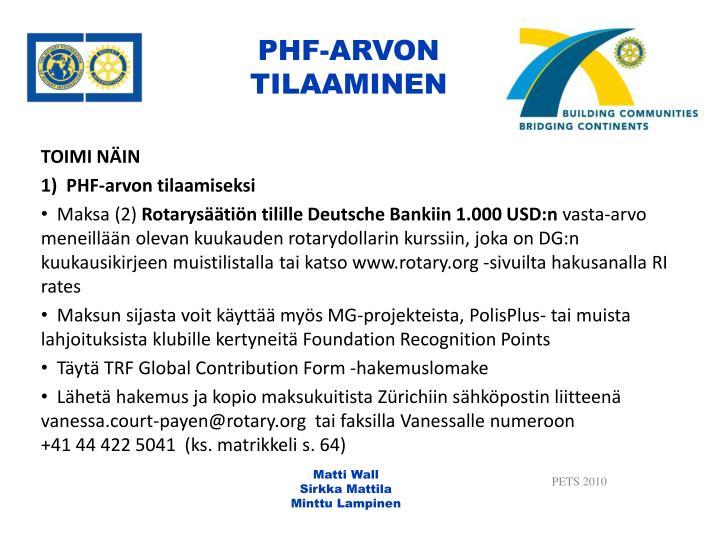 PHF-ARVON