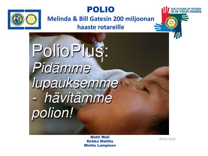 PolioPlus: