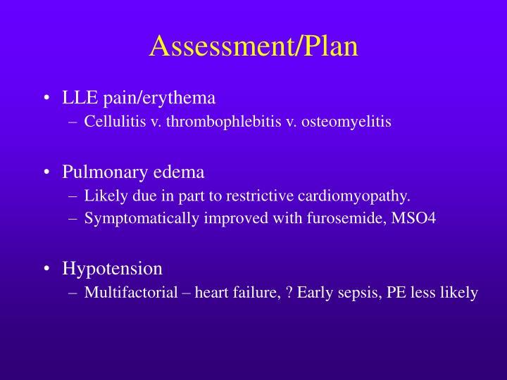 Assessment/Plan