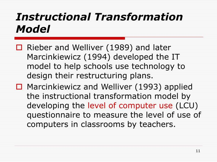 Instructional Transformation Model