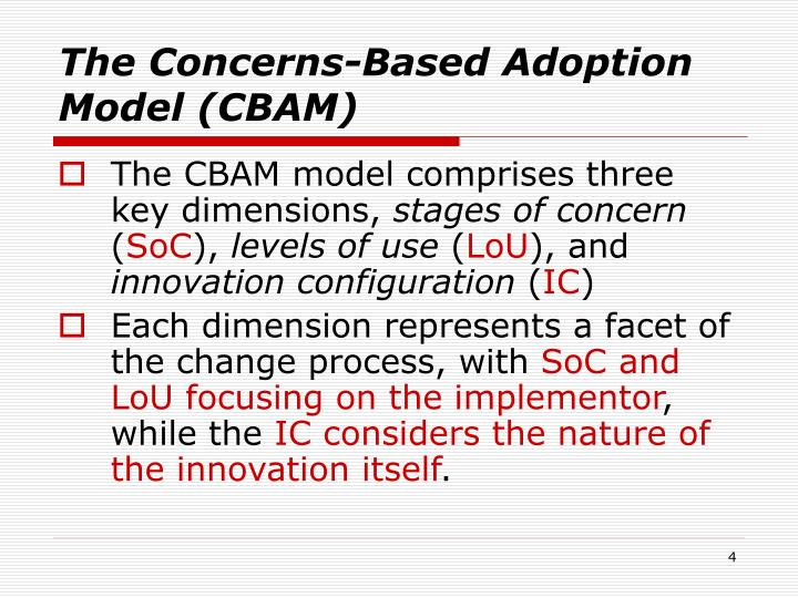 The Concerns-Based Adoption Model (CBAM)