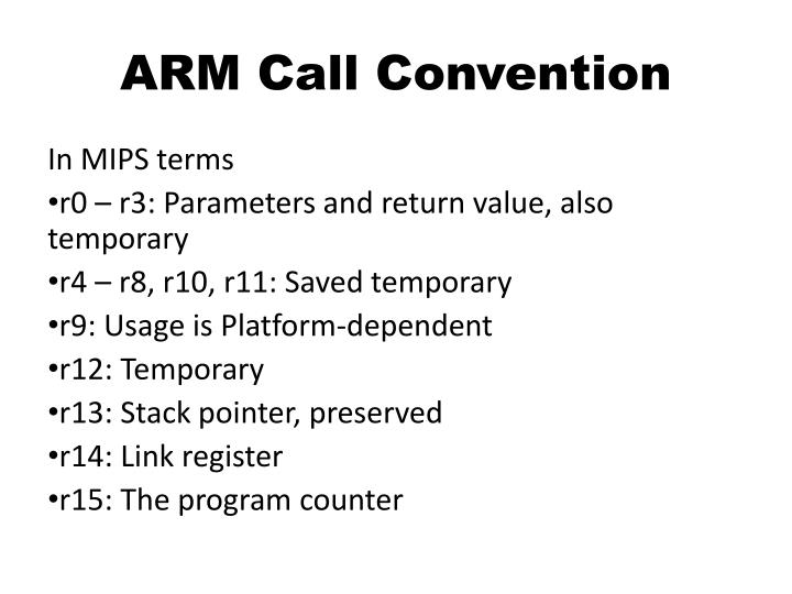ARM Call Convention