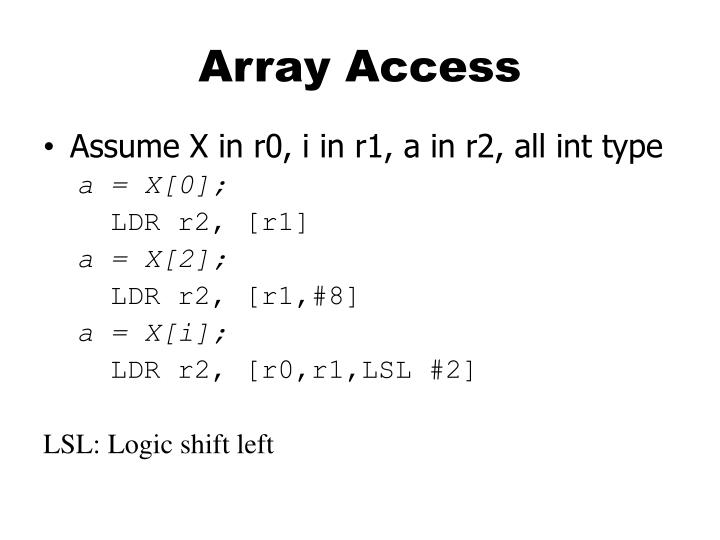 Array Access
