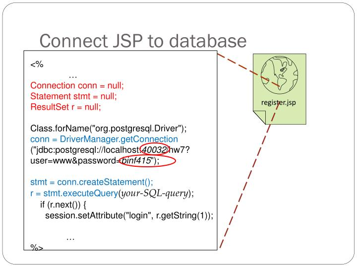 Connect JSP to database