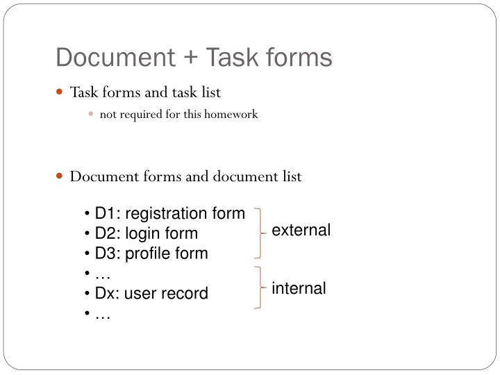 Document + Task forms