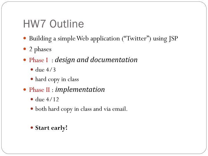 HW7 Outline