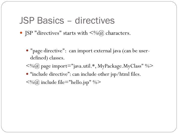 JSP Basics – directives