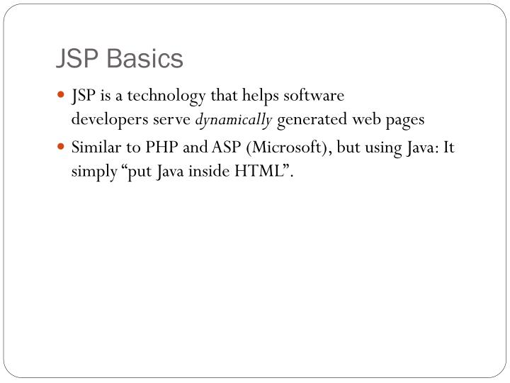 JSP Basics