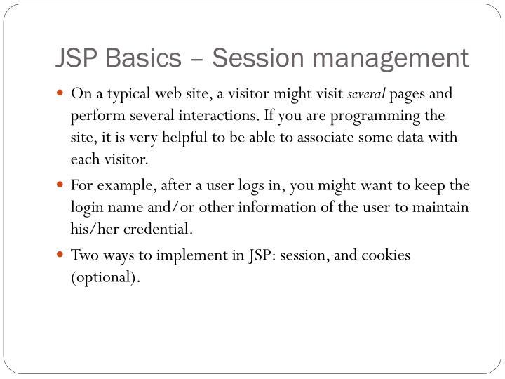 JSP Basics – Session management