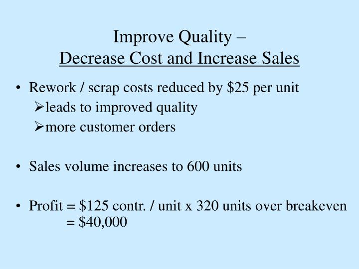Improve Quality –