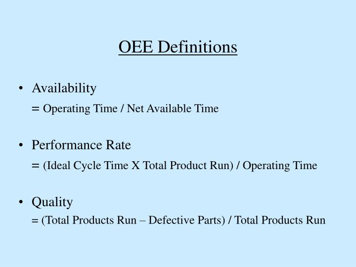 OEE Definitions