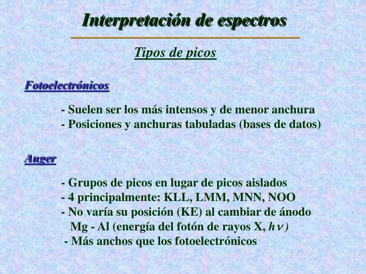 Interpretación de espectros