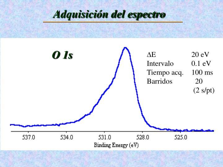 Adquisición del espectro
