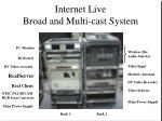 internet live broad and multi cast system