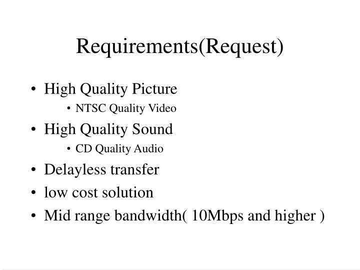 Requirements(Request)