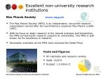 excellent non university research institutions1