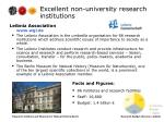 excellent non university research institutions4