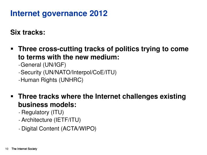 Internet governance 2012