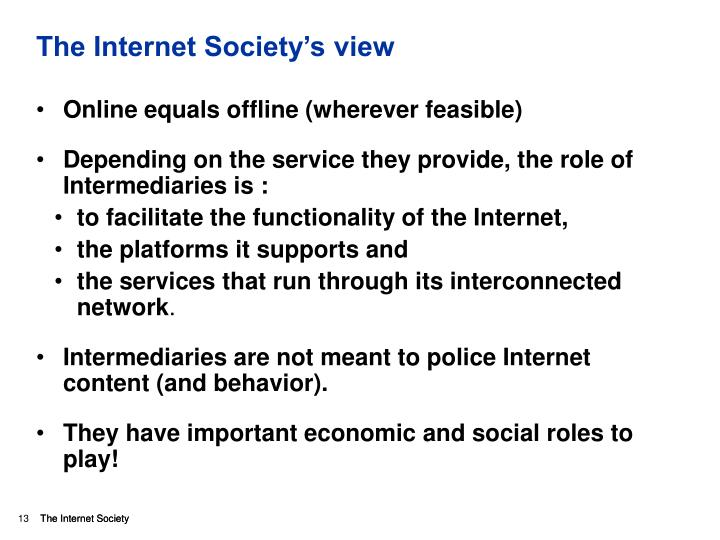 The Internet Society's view