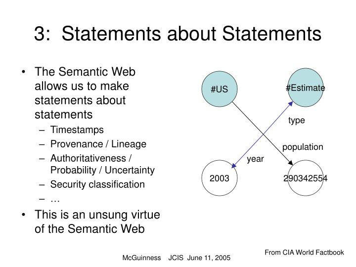 3:  Statements about Statements