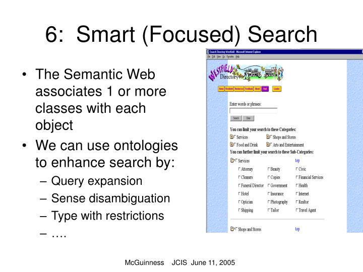 6:  Smart (Focused) Search