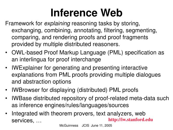Inference Web