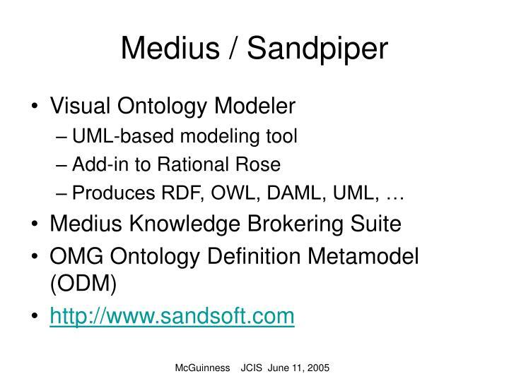 Medius / Sandpiper